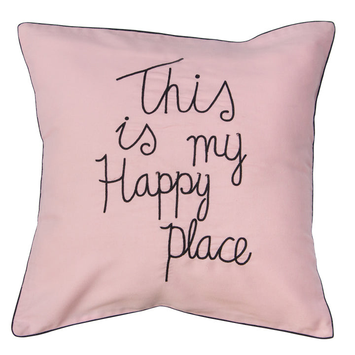 This Is My Happy Place (Pink) Cushion Cover