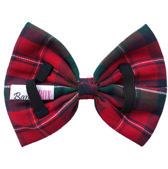 Red And Green Plaid Slider Bow