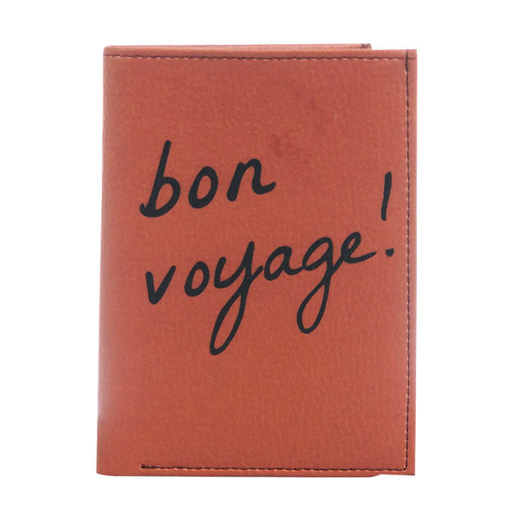 Light Brown Bon Voyage Wallet & Passport Cover
