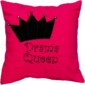 Drama Queen (Pink) Cushion Cover