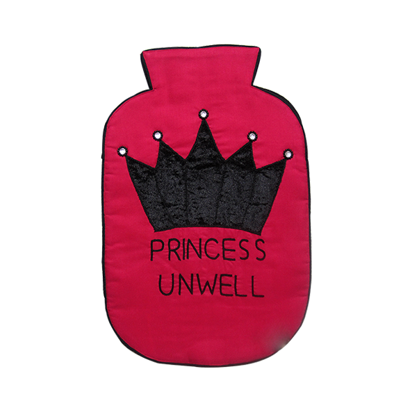 Princess Unwell Pink Hot Water Bag Cover