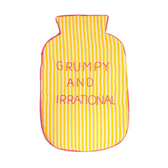 Grumpy & Irrational Yellow Stripes Hot Water Bag Cover