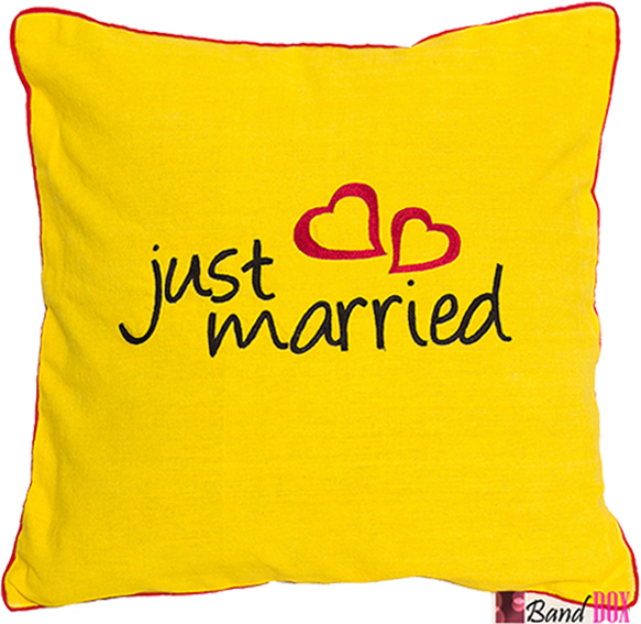 Just Married Cushion Cover