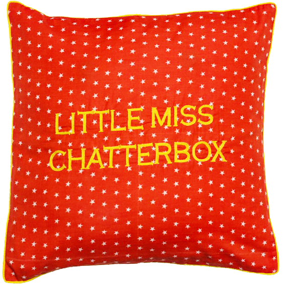 Little Miss Chatterbox Cushion Cover