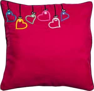 String Of Hearts Cushion Cover