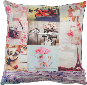 Pink Collage Cushion Cover