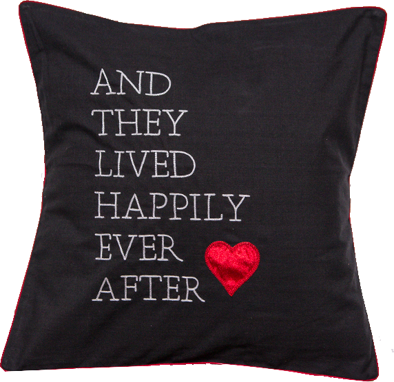 Lived Happily Cushion Cover