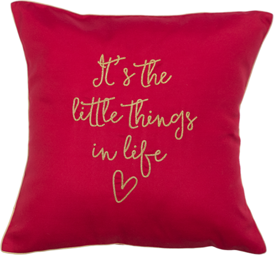 Little Things (Red) Cushion Cover