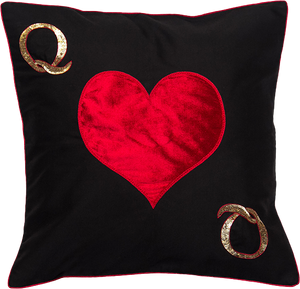Queen Of Hearts Cushion Cover