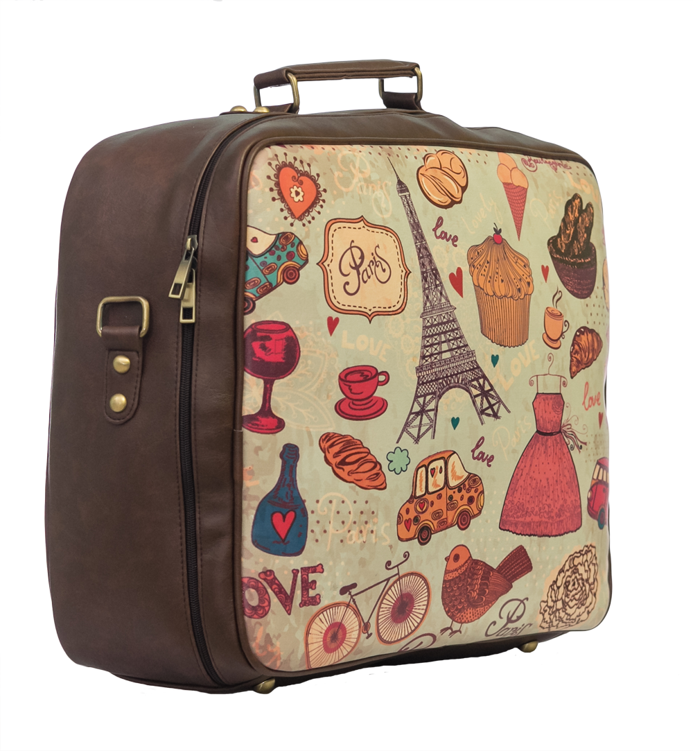 Paris Suitcase Travel Bag