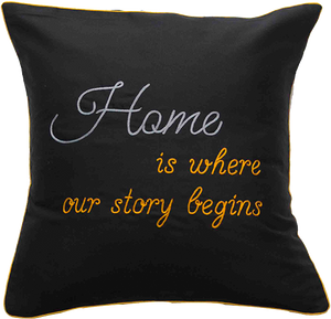 Home Is Where Our Story Begins Cushion Cover