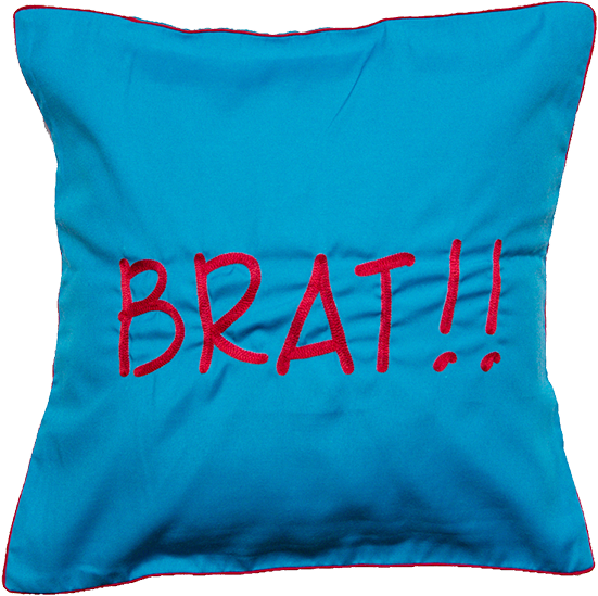 Brat (Blue) Cushion Cover
