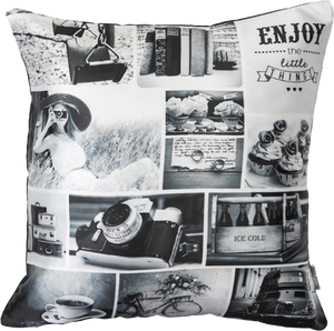 Black N White Cushion Cover