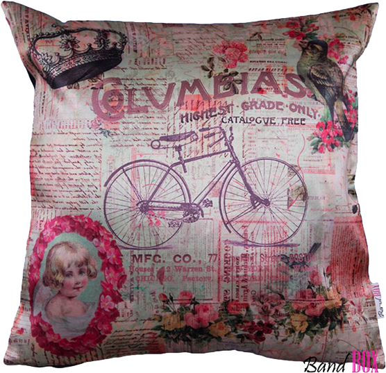 Vintage Cycle Cushion Cover