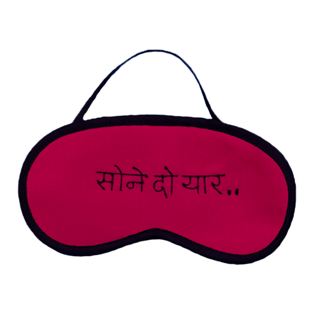 Sone Do Yaar Pink Eye Mask
