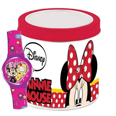 Minnie Mouse Armbåndsur i Metalbox str. 3-8 år
