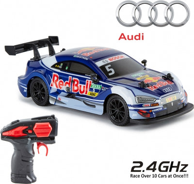 Official Audi A4 DTM Red Bull Replica Fjernstyret Racerbil 199x96x48 mm