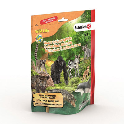 Schleich Wild Life surprise bag med 3 dyr