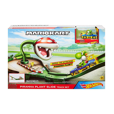 Hot Wheels Mario cart track set Yoshi