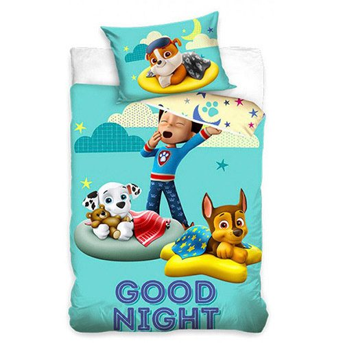 "Paw Patrol ""Good night"" junior sengesæt 100x135 cm bomuld"