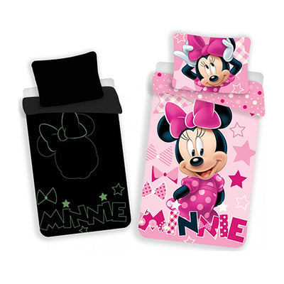 Minnie Mouse glow in the dark selvlysende sengesæt 100% bomuld