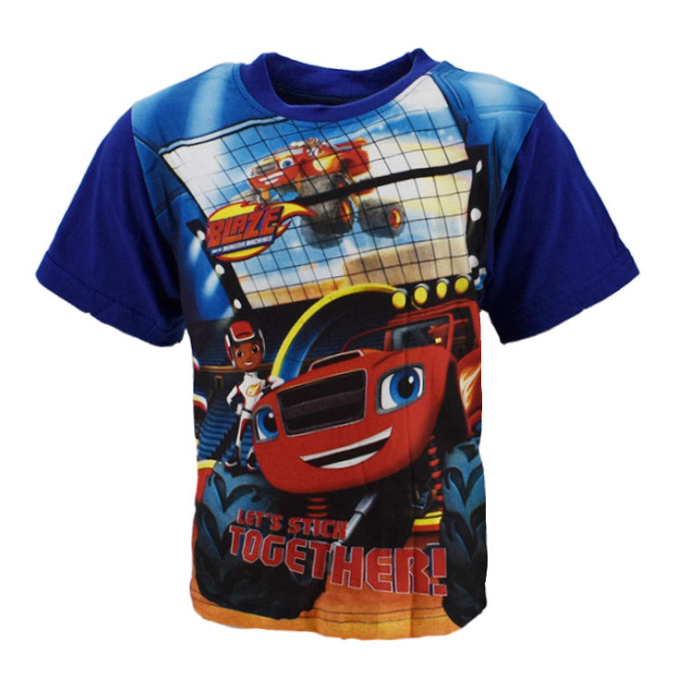 Blaze og monstermaskiner t-shirt str. 2-6 år