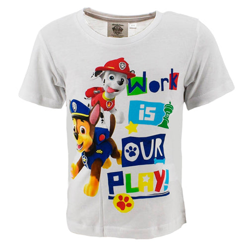 "Paw Patrol ""Work is our play"" T-shirt"
