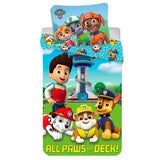 "Paw Patrol junior sengesæt ""all paws on deck"""