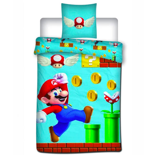 Super Mario sengesæt 100% oeko tex bomuld (model 2)