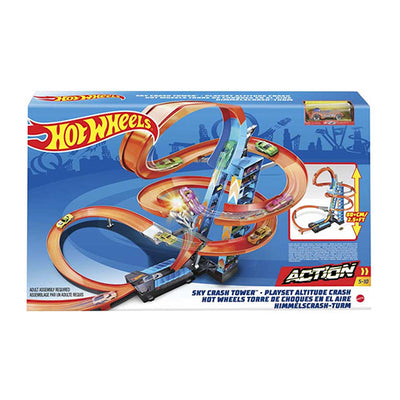 Hot Wheels sky-crash tower track set