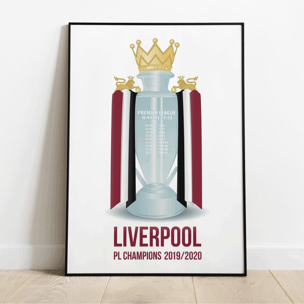 Liverpool Premier League Winners plakat