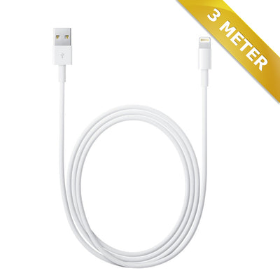 3 STK 100 KRONER !!! Lightning kabel til iPhone - 3 meter