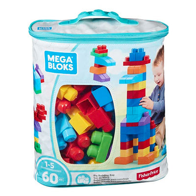 Fisher-Price Mega Blocks blå 60 klodser legesæt