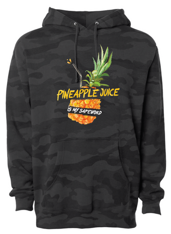Safe Word: Pineapple Juice Black Camo Hoodie - Patty Mayo