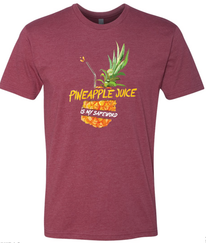 Safe Word: Pineapple Juice TShirt [Red]
