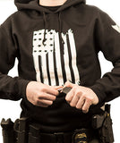 Flag Front Hoodie [Hanging] - Patty Mayo