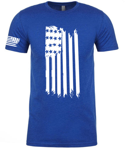 Flag Front Hanging Tshirt [BLUE]