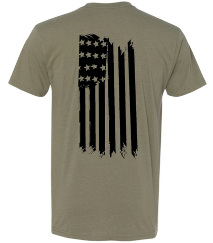 Flag Back Hanging TShirt [GREEN]