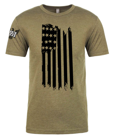 Flag Front Hanging TShirt [GREEN]