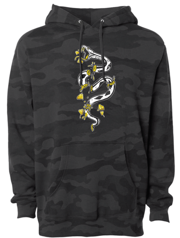 Pineapple Snake Black Camo Hoodie - Patty Mayo