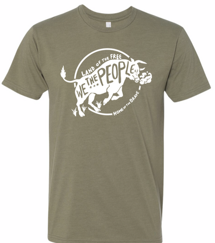 We the People Green Tee - Patty Mayo