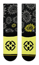 MERGE4 New Deal Sun Pattern Classic Crew Socks