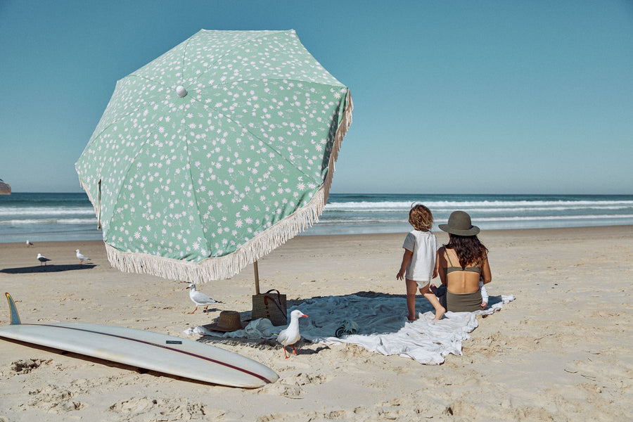 Flannel Flower Ash Wood Pole Beach Umbrella