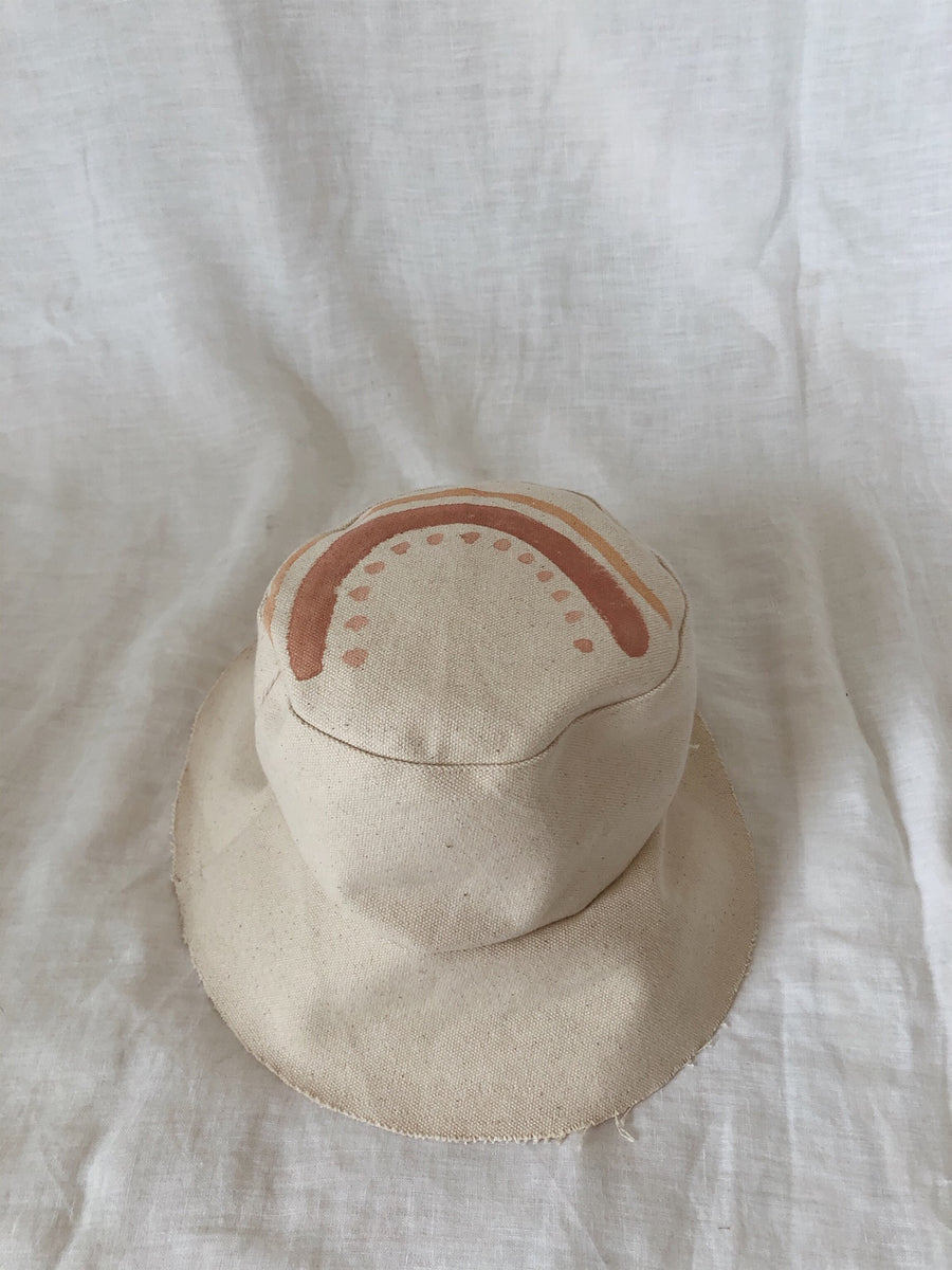 Kids Handmade Canvas Bucket Hat 3-5YRS
