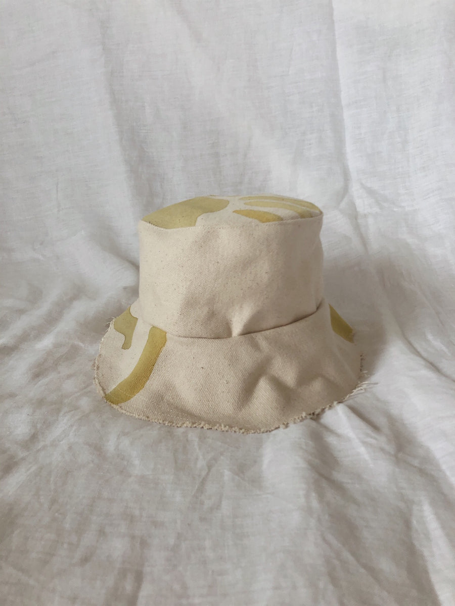 Kids Handmade Canvas Bucket Hat 1-2 YRS