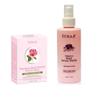 Synaa Premium Rose Water & Rose Water Soap Combo Pack