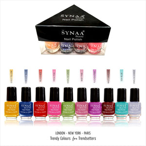 Synaa Nail Polish Set of 10 Pieces ( Multicolor Set #3)