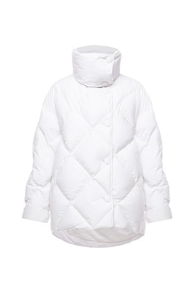 Ienki lenki quilted white puffer
