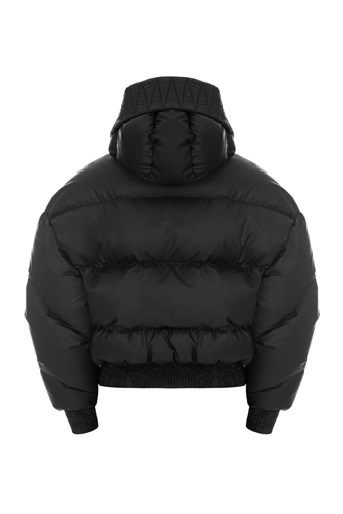 ienki ienki black dunlope puffer jacket for women