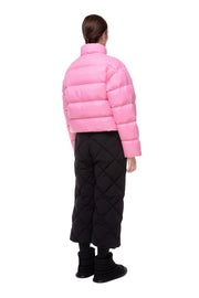 Ienki Ienki shortened puffer jacket Pink color